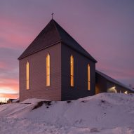 Our Lady of the Snows church combines Moravian and Innu influences
