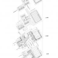 Exploded axonometric drawing of Pazdigrad Primary School by x3m
