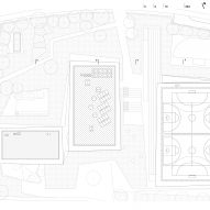 Roof plan of Pazdigrad Primary School by x3m