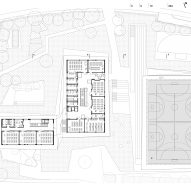 Second floor plan of Pazdigrad Primary School by x3m
