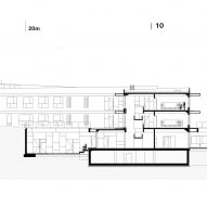 Section C-C of Pazdigrad Primary School by x3m