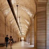 Frank Gehry restores entrance and vaulted corridor at Philadelphia Museum of Art