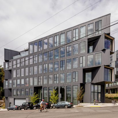 Portland Flatiron Building by Works Progress Architecture