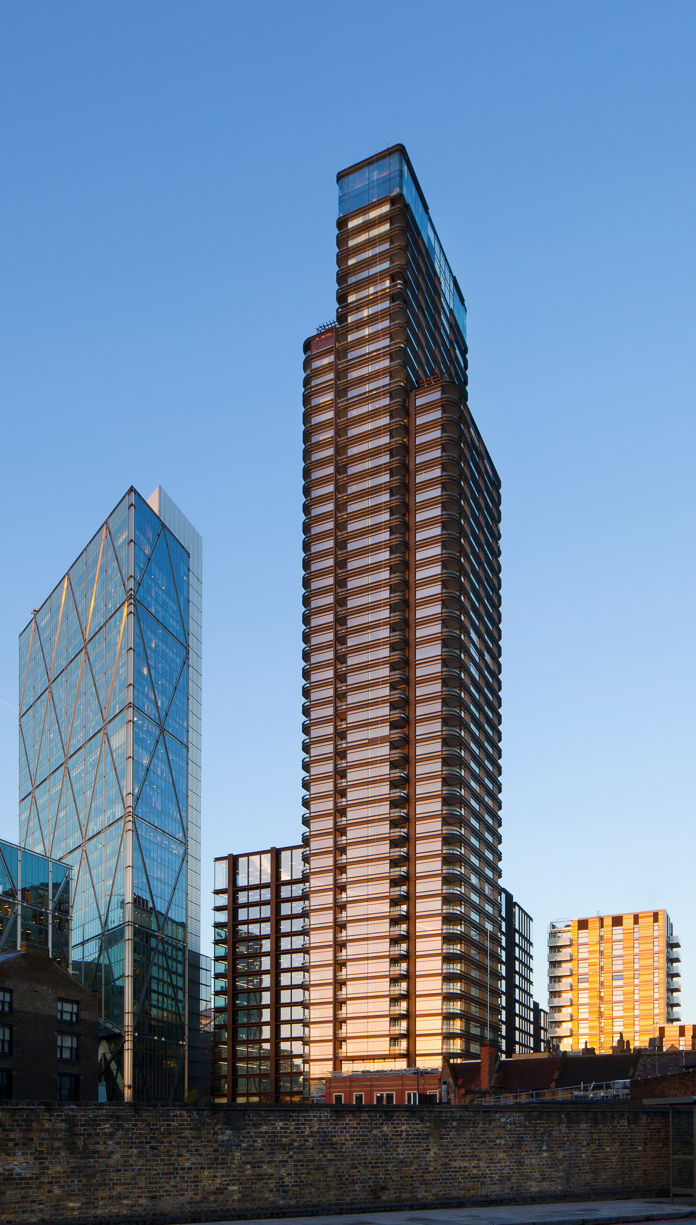 Principal Tower by Foster + Partners in Principal Place, London, UK