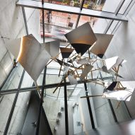 Props exhibit fills stairwells and bathrooms of Zaha Hadid's Contemporary Arts Center in Cincinnati