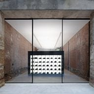 Leong Leong adds monolithic projection screens to R13's brickwork flagship store