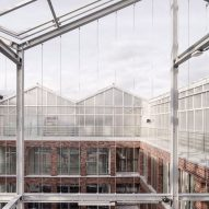Kuehn Malvezzi tops brick office with translucent urban greenhouse