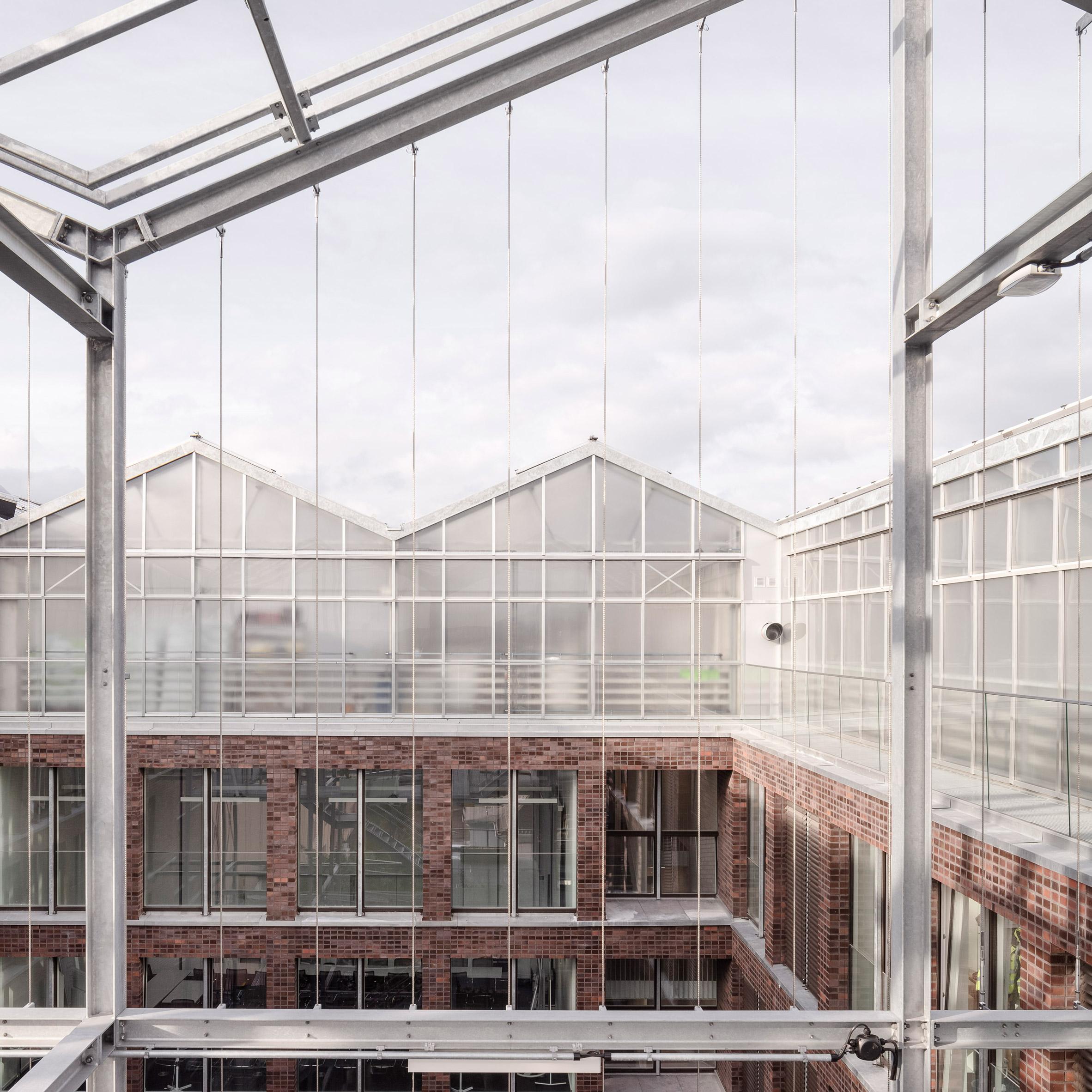 Kuehn Malvezzi Tops Brick Office With Translucent Urban Greenhouse