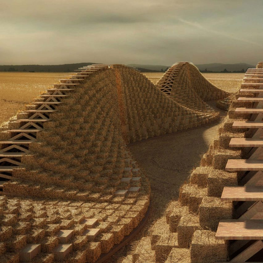Straw Bale School by Nudes