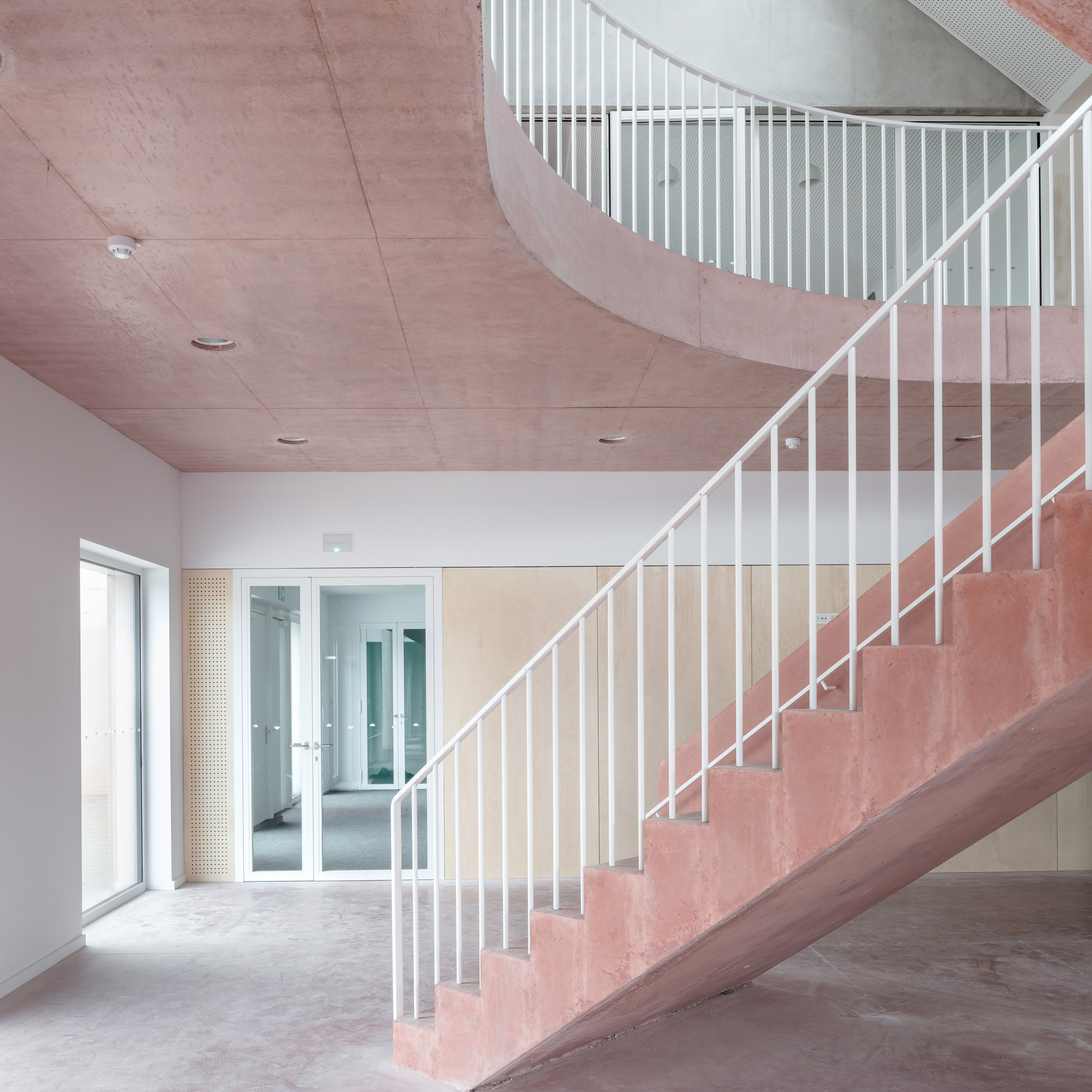 Dezeen's top 10 staircases of 2019: School Zarren, Belgium, by Felt