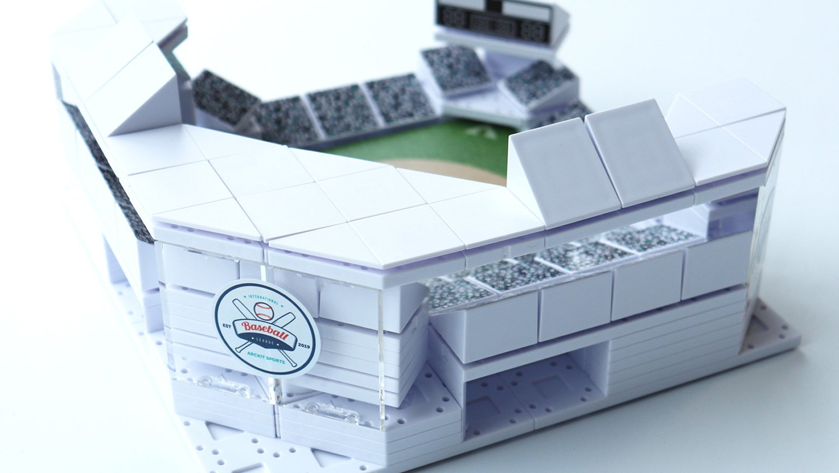 Architectural model-building kit of sports stadiums by Arckit
