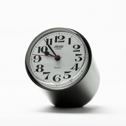 Static clock by Richard Sapper relaunched by Lorenz
