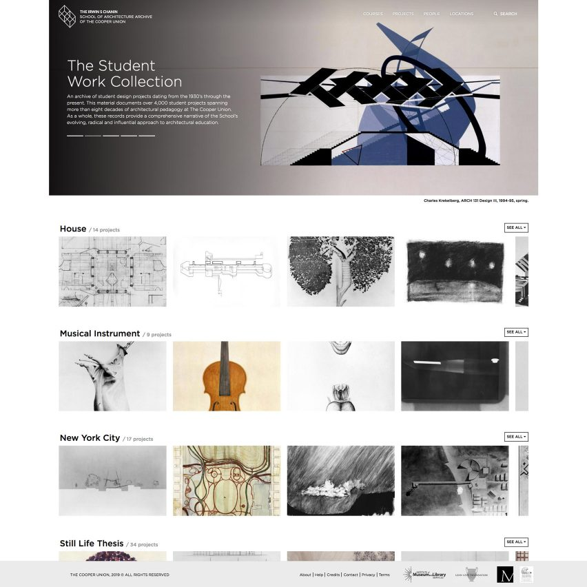 Student Work Collection Architecture Archive Student Work Collection Architecture Archive