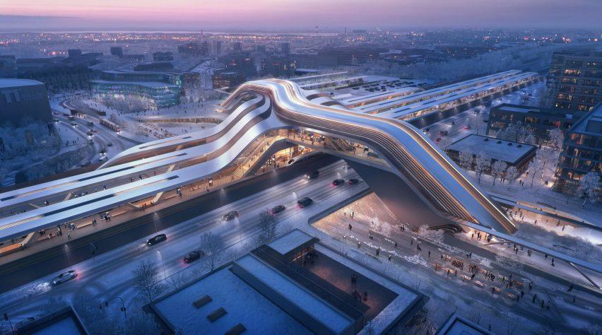 Ülemiste terminal by Zaha Hadid Architects and Esplan