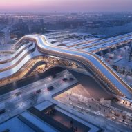 Zaha Hadid Architects unveils plans for high-speed train station in Tallinn