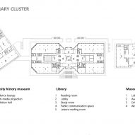 First floor plan of Yan'an University campus building by Architectural Design and Research Institute of Tsinghua University, China