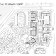 Masterplan of library and museums of Yan'an University campus building by Architectural Design and Research Institute of Tsinghua University, China