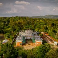 Solar panels form canopy over surgical facility in Uganda