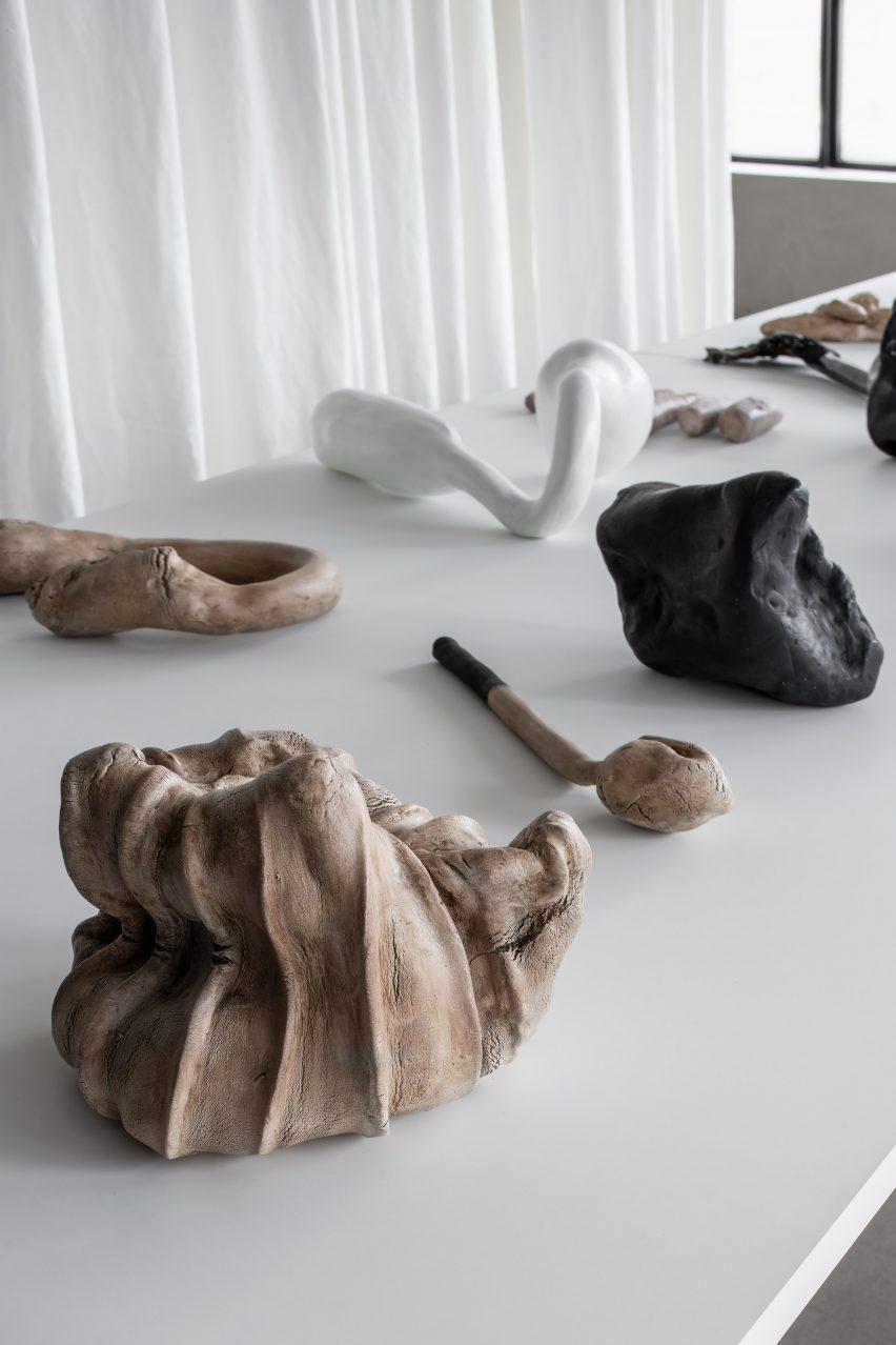 Alien Autopsy ceramics by Åsa Stenerhag