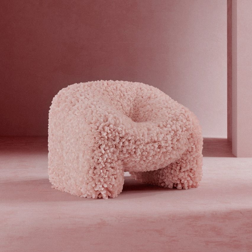 Andrés Reisinger turns Insta-famous CGI render into real chair
