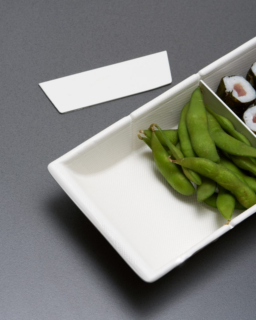 Anna Piasek makes Bento-style cellulose packaging for takeaway food