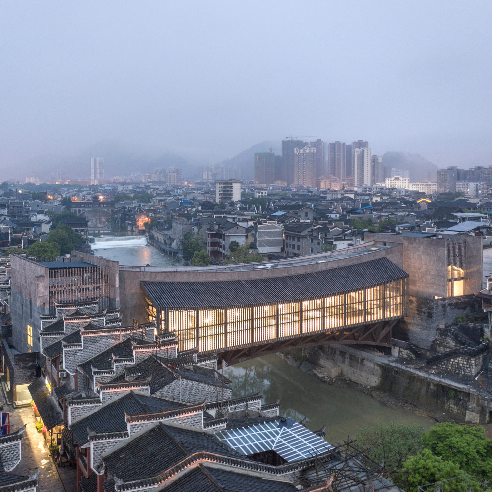 Dezeen's top 10 Chinese architecture projects of 2019: Jishou Art Museum, Jishou, by Atelier FCJZ