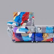 Harry Nuriev stuffs vinyl sofa with old Balenciaga clothing