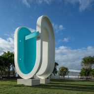 Elmgreen and Dragset builds a bent swimming pool in Miami