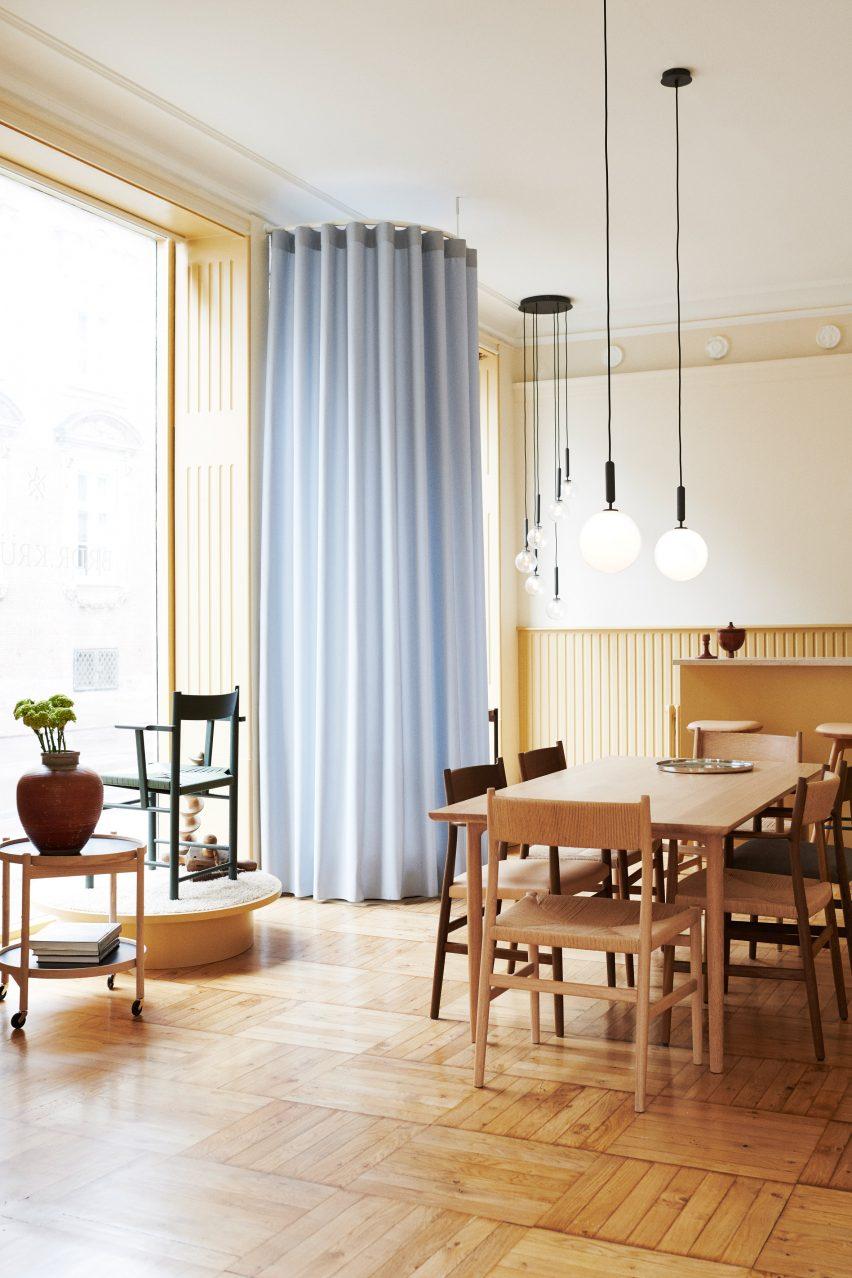 Brdr Kruger showroom in Copenhagen by Bunn Studio