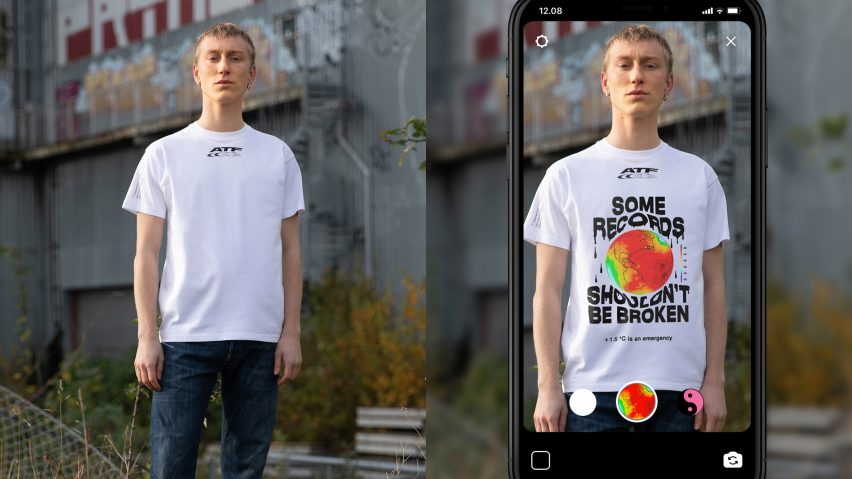 Wearers can update political messages on Carlings' augmented-reality T-shirt