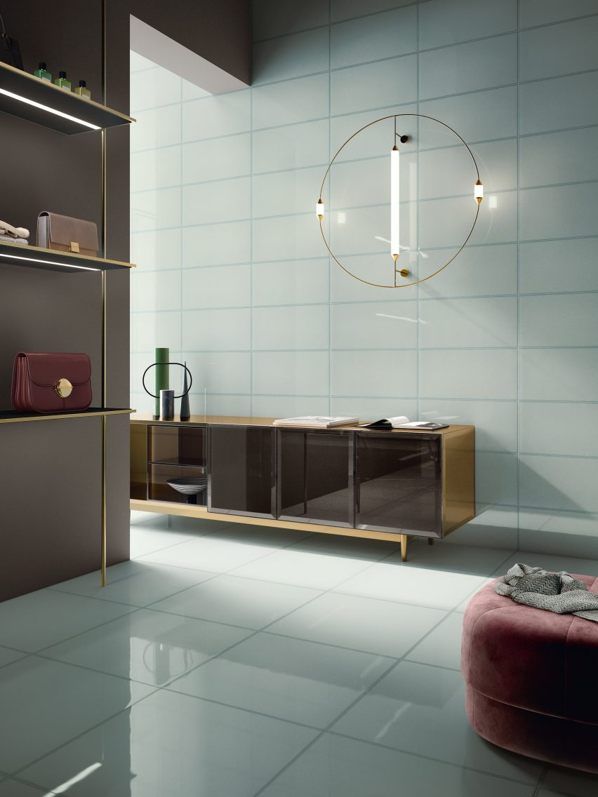 Ceramiche Refin's collection of glass-effect tiles