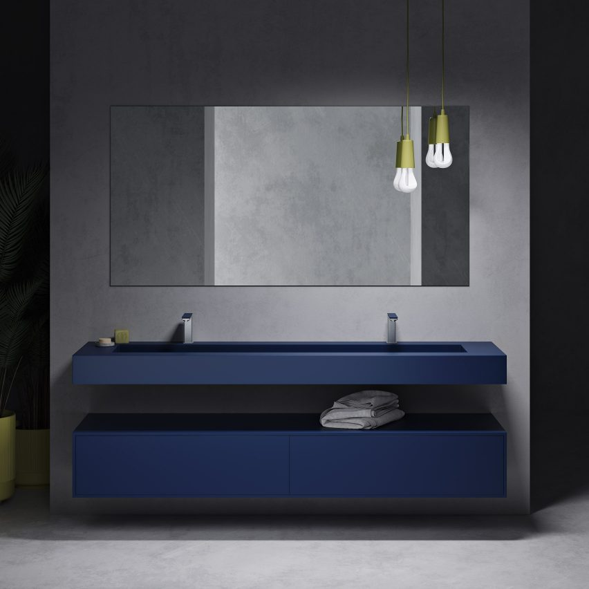 Corian colour collection by luxury bathroom retailer Riluxa