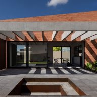 Bernardo Richter arranges his brickwork house in Brazil around a courtyard