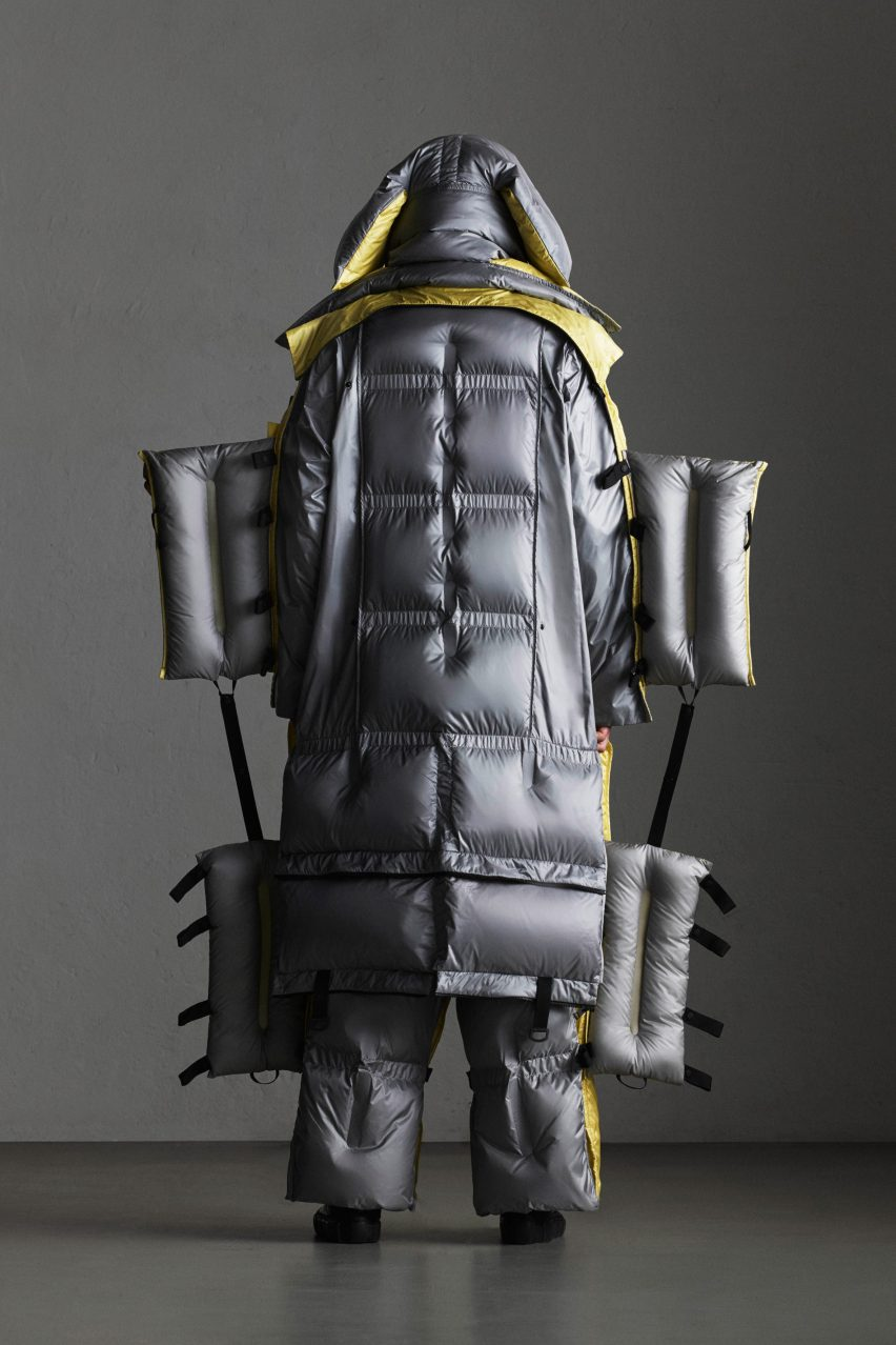 Craig Green's Moncler Genius puffer suit can be rolled up like sleeping bag