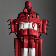 Craig Green's oversized Moncler puffer suit can be rolled up like a sleeping bag