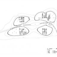 First floor plan of Liyang Museum Floating Melodies by CROX