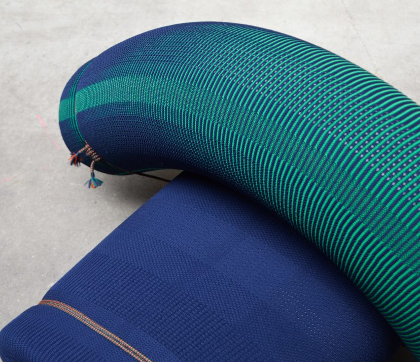 Floor Skrabanja designs 3D-knitted seats that use no staples or stitches