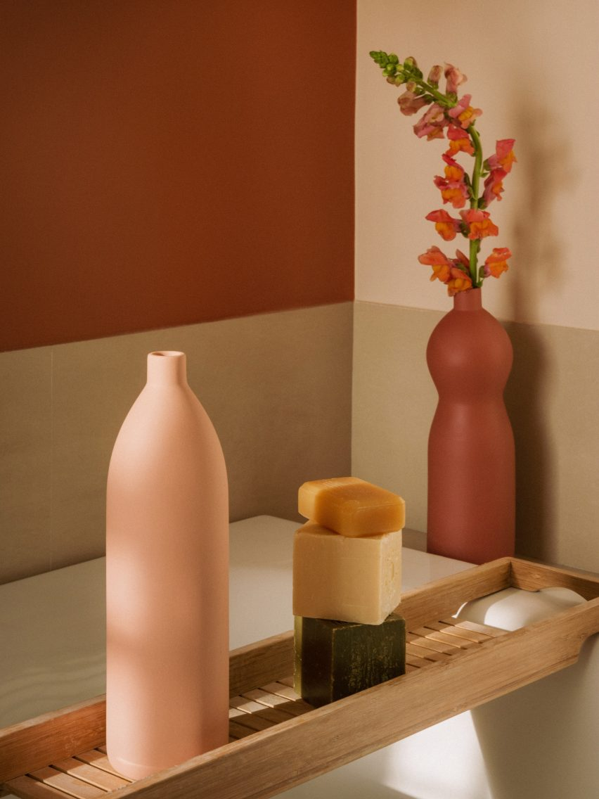 "Goodmoods' handmade sandstone bottles are a ""satire of our plastic use"""