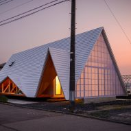 Takeru Shoji Architects builds tent-shaped house in Japanese village