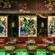 Backlit gemstone floor illuminates London restaurant The Ivy Asia