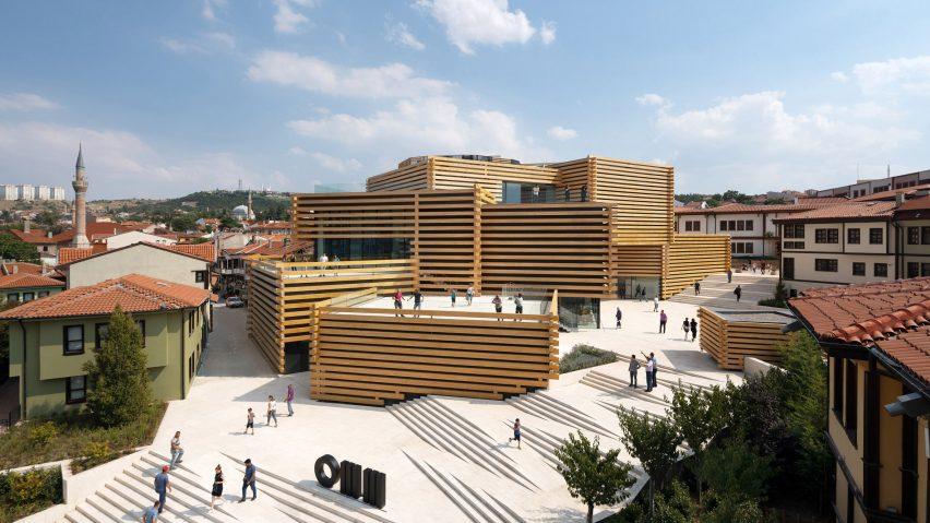 Odunpazari Modern Museum by Kengo Kuma and Associates