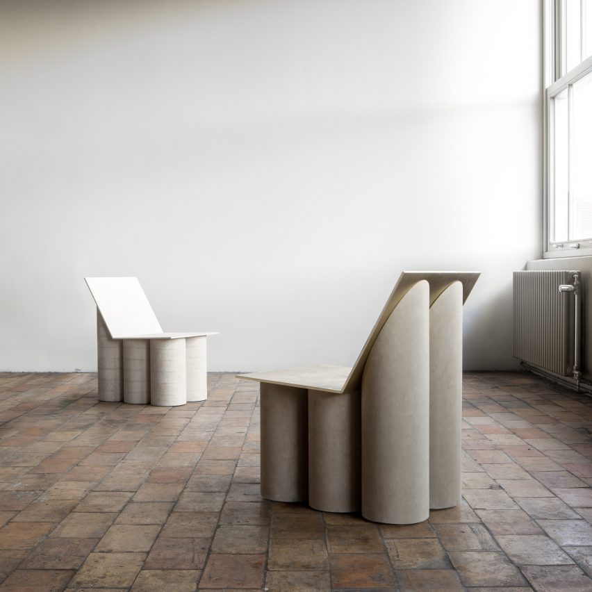 "Linde Freya Tangelder introduces six furniture designs using ""rich and poor"" materials"