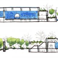 Mazatlán Aquarium by Tatiana Bilbao sketch section