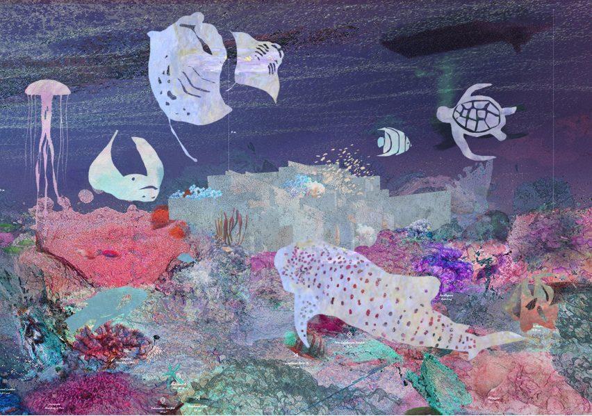 Mazatlán Aquarium by Tatiana Bilbao collage
