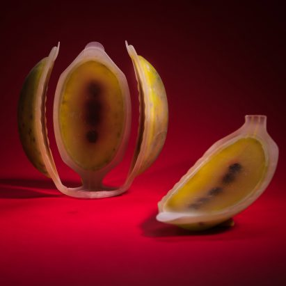 Meydan Levy 4D-prints edible fruit using cellulose and nutrient liquids