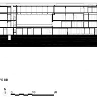 Section B of Minimum security prison in Nanterre by Local Architecture Network LAN