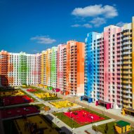 "Iosa Ghini Associati counters Moscow's ""monotony"" with brightly coloured apartment blocks"
