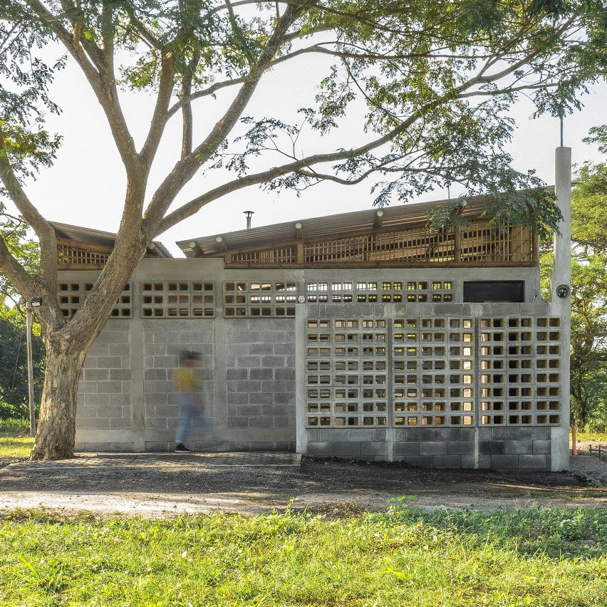 DEOC Arquitectos adds yellow paint to cinder blocks for emergency shelter in Guatemala