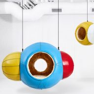 Porky Hefer's Molecules are hanging seats modelled on chemical compounds