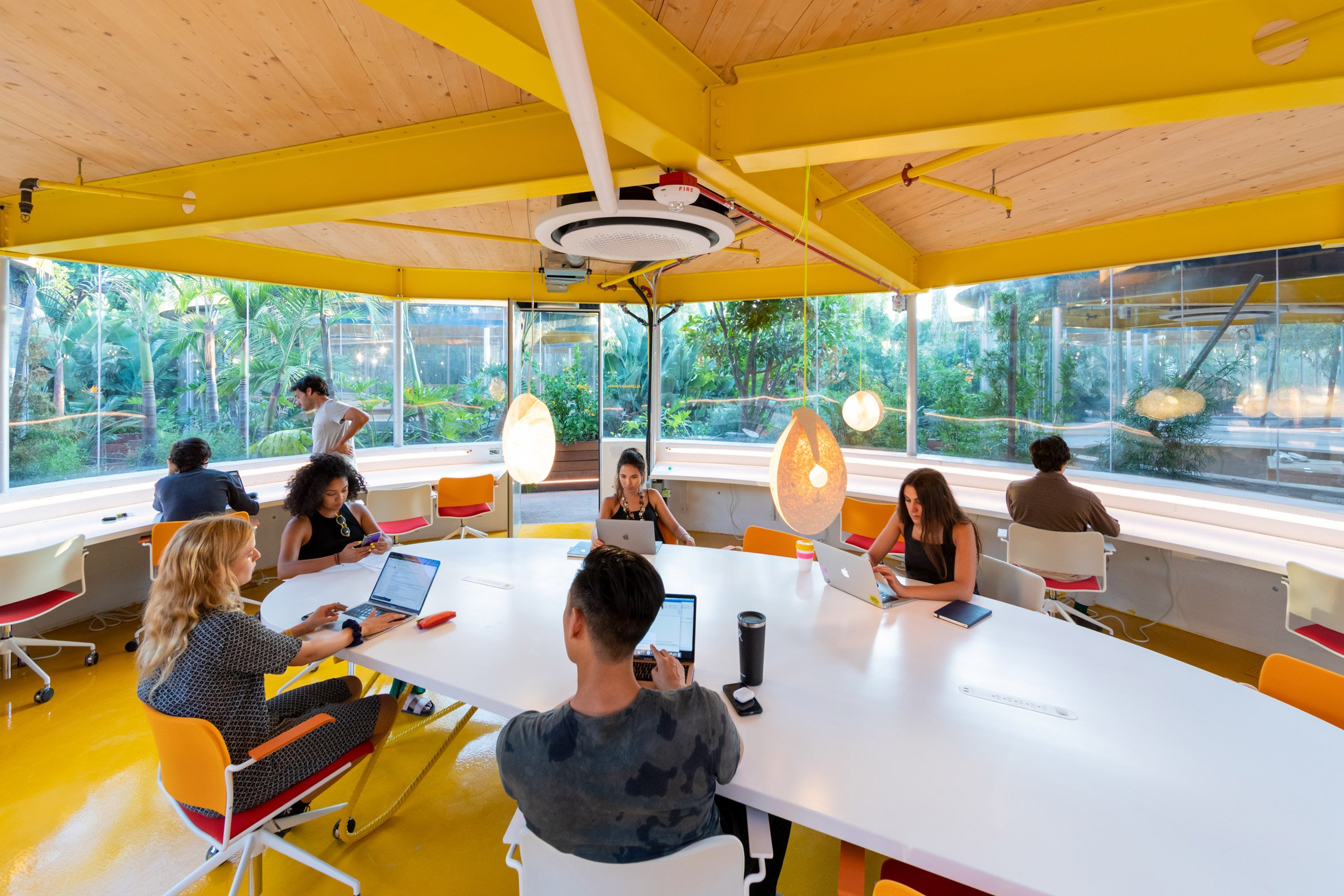 Second Home Hollywood is a co-working complex designed by SelgasCano